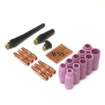 WP17, 26, 18 Tig Torch Accessory Kit, Ceramics, Bodies, Collets, Backcaps
