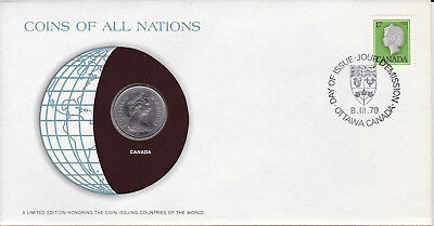 Coins of All Nations Canada 25 cents 1979 UNC US-Seller