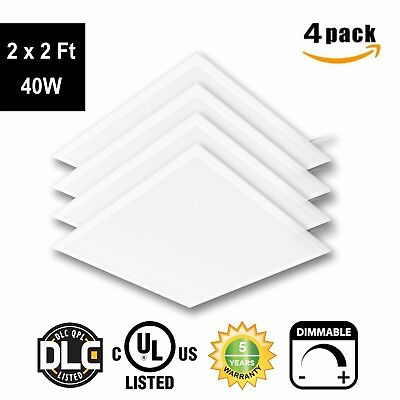 LED 2 x 2 Ft Recessed LED Panel Light Ceiling Frame 40W 5000K Dimmable - 4Pack