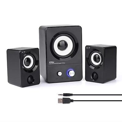 HTRise USB Powered Computer Speakers System (X7 Black) for Gaming/Music/Movie...