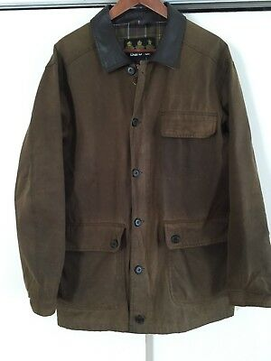 Original Barbour Fieldspar Tartan Men's Waxed Cotton Jacket in Bark *Rare