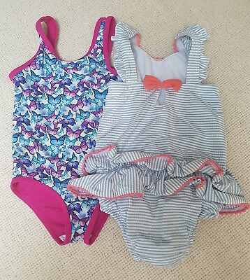 Two Girls Swimsuits, M&S/ TU, 18-24 months, VGC