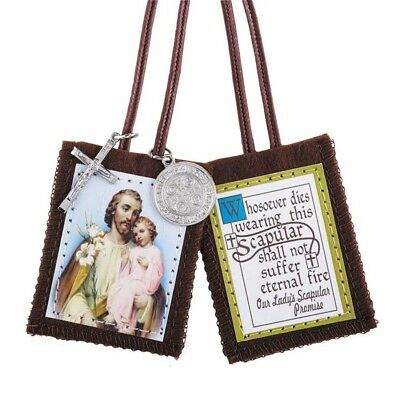 St. Joseph Scapular with Medals (D1204) NEW