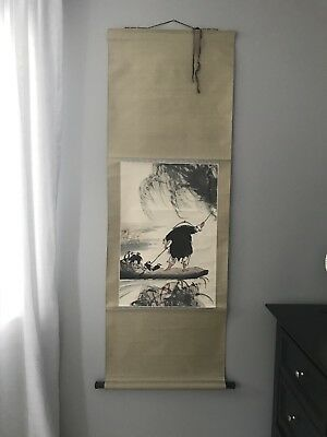 Japanese Chineses Fine Art Wall Hanging Scroll