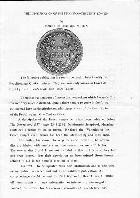 Identification of the Feuchtwanger Cent by Koutsoures Low 120 Hard Times Token