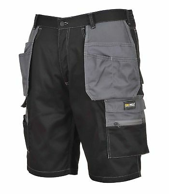 Portwest Granite Holster Shorts Work Elasticated Waist Triple Stitched KS18