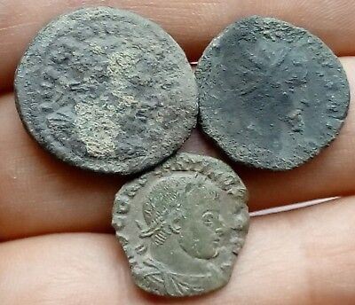 Lot Of 3 Roman Bronze Coins