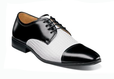 Men/'s Stacy Adams Dress Shoes Cap Toe Oxford Solid White Leather 25180 FORTE