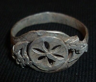 BYZANTINE Ancient - SILVER RING - Circa 1500 AD                -A767