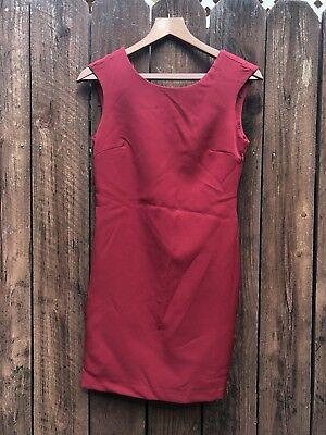 c6d589c682a NWT Zara Red Sleeveless Open Back Sz Small