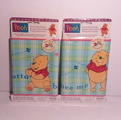 Winnie The Pooh Gotta Bee Me Wall Border 2 Packs WFP6820 Sealed