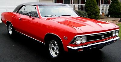 1966 Chevrolet Chevelle SS Clone 1966 SS Clone,Frame-off,Red/Black,Fresh 498/700hp BB,Turbo400PS,FDisc,12BoltPosi