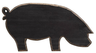"Black Pig Wood Sign, Primitive, New, 10.5"", Country, Distressed, Farm, Kitchen"
