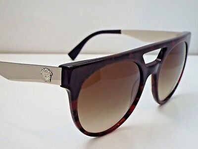 73a8497426e51 Authentic VERSACE 4339 5250 13 Red Havana Brown Gradient Sunglasses  310