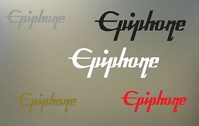 """(2) 6"""" EPIPHONE vinyl Decal sticker any color surface guitar phone gibson  S928"""