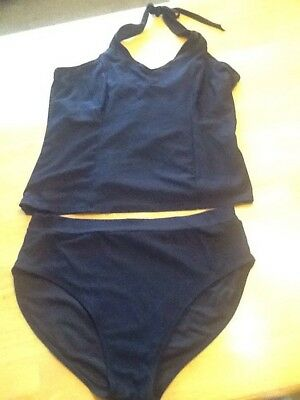 Motherwear Maternity Swim Suit 2 pce Black Tankini Size M Pregnancy Swim Summer