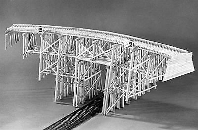 Campbell Scale Models Ho Scale Trestle Tall Curved | Bn | 304