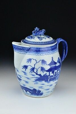 Antique Chinese Export Porcelain Canton Cider Jug 18th / 19th Century