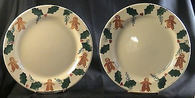 HARTSTONE POTTERY GINGERBREAD set of 2 DINNER PLATES & HARTSTONE POTTERY GINGERBREAD set of 2 DINNER PLATES - $34.95 | PicClick