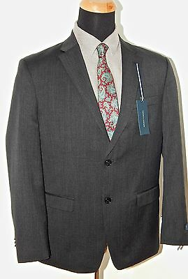 Tommy Hilfiger 100% Wool Solid Charcoal Gray Mens Suit Trim Fit, VARIOUS SIZES