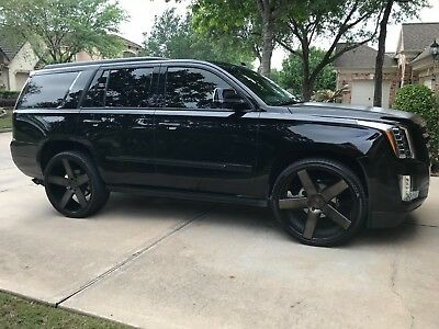 2016 Cadillac Escalade Premium Blacked Out - 26 Inch Wheels - Exhaust - Navigation, 360 Camera, Sunroof