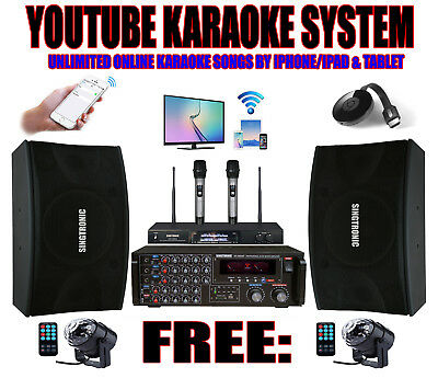Youtube Complete Professional 2000W Karaoke System W/ HDMI & Bluetooth Function