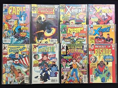 FLASHBACK All #-1 Issue Lot of 10 Marvel Comics - Cable, DD, X-Men, Spider-Man+!