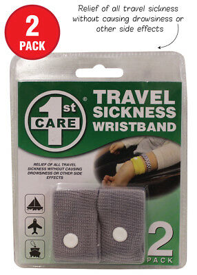 2 PK Anti-Nausea Morning Sickness Motion Travel Sick Wrist Band Car Sea Plane