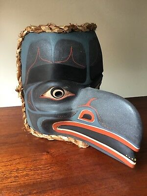 First Nations Northwest Coast Raven Mask