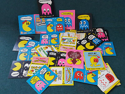 30 1980 & 1981 Pac-Man Stickers + Ms. Pac-Man Series also in Lot! Fleer Vintage.