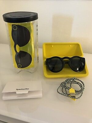 """Snapchat """"Spectacles"""" Video Recording Sunglasses - blacked out / stealth!"""
