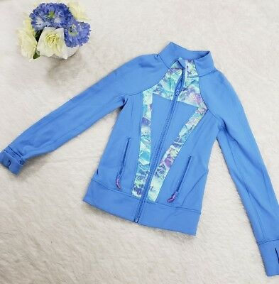 Ivivva By Lululemon Blue Perfect Your Practice Jacket Full Zip Size 6