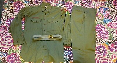 Vintage Boy Scout Uniform 171 La Mesa California 15 shirt, 30 pant EUC