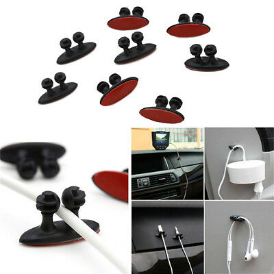 Car Wire Clip USB Charging Cable Fixed Clamp Holder Adhesive Charger Line Clasp
