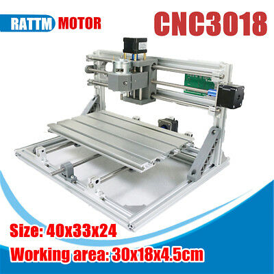 3 Axis Mini CNC Router Milling Wood Engraving Machine 3018 GRBL Control 24V 5.6A