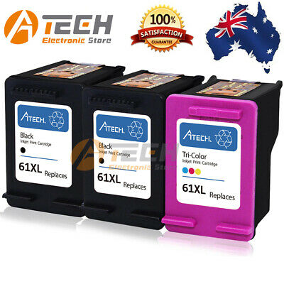 Black Colour Ink for HP 61 XL Deskjet 1510 2510 2540 3050 Officejet 2620 4630