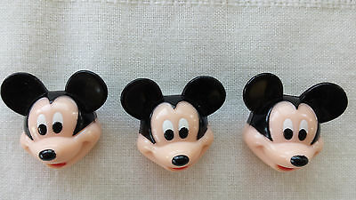 Disney Mickey Mouse BUTTON COVERS CLIP decorative blouse shirt accessories ears