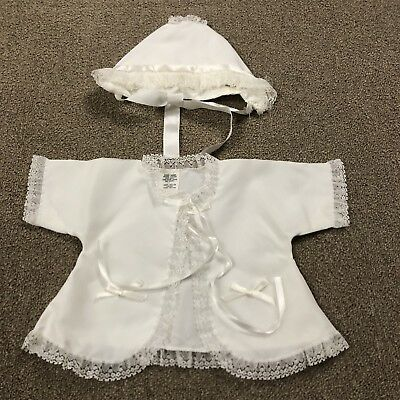 Vintage Baby Baptism Christening Hat and Top