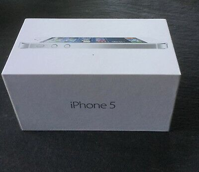 ORIGINAL GENUINE Apple iPHONE 5 White 32gb EMPTY  BOX ONLY - NO iPHONE