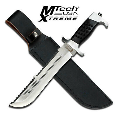 "New MTech USA Xtreme Bowie 15"" Fixed Blade Knife Sawback Serrated Spine MX-8099"