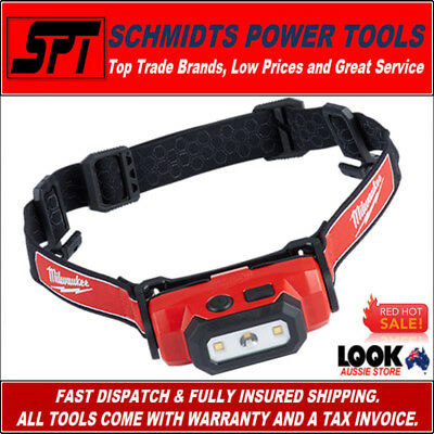 Milwaukee L4Hl-201 Led Headlamp Kit Hard Hat Head Torch Usb Rechargeable Austock