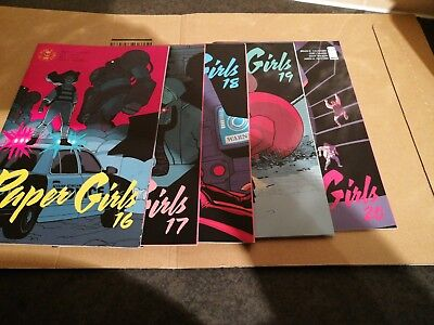 Paper Girls 16-20 Brian K Vaughn, Cliff Chiang, Mint condition Image Comics
