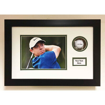 Golf Ball Display Case 3D Box For Signed Golf Ball With Photo & Title 17x11 Inch