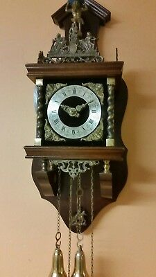 Dutch Wall Clock, Chain driven / Fully  Servised /Perfect Working Order