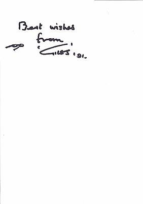 Giles Hand Signed Plain White Card 1991