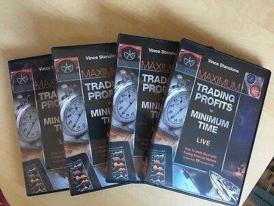 Vince Stanzione Seminar DVDs Maximum Trading Profits in Minimum Time 4 DVD Set