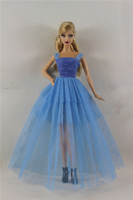 Blue Fashion Royalty Princess Dress/Clothes/Gown For 11.5in.Doll