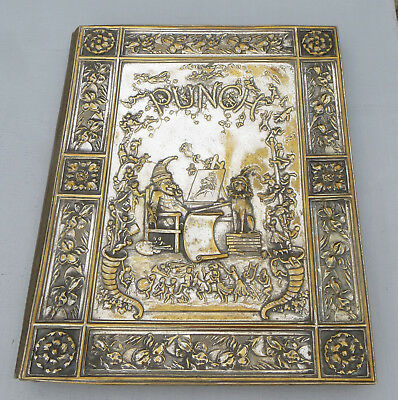 Punch Magazine Silver Plated Brass Embossed Cover - Blotter/Stationery Folder