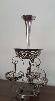 Silver Plate Epergne / Baskets Centrepiece