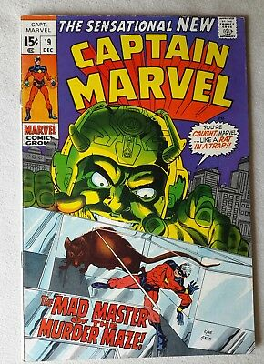 Marvel comics.'Captain Marvel '.×4.1969-78. Fine + / 7.0.